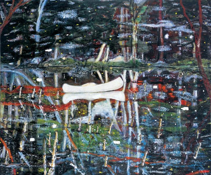 White Canoe, 1991  ©Peter Doig